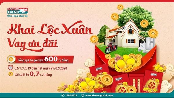 Kienlongbank triển khai gói tín dụng 600 tỷ VNĐ ưu đãi lãi suất