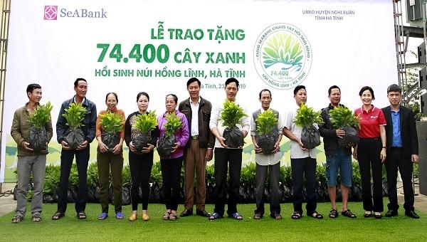 SeABanl trao tặng 74.400 cây xanh hồi sinh núi Hồng Lĩnh, Hà Tĩnh