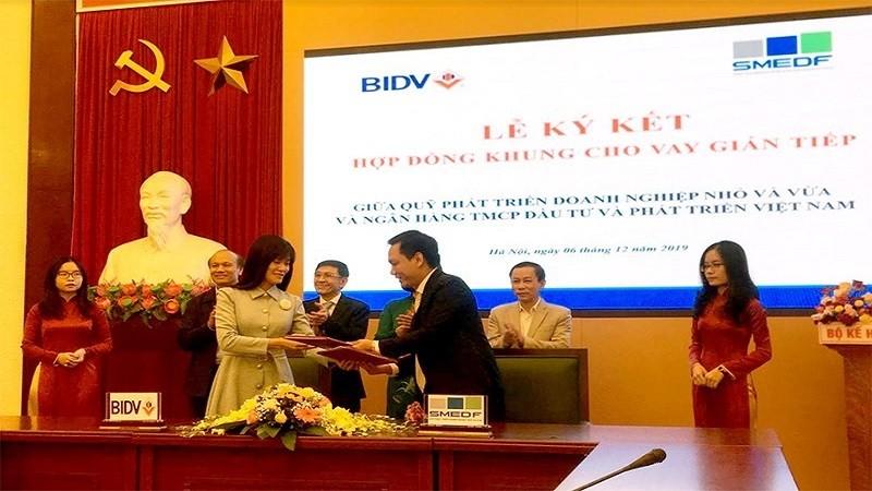 Ký hợp đồng khung cho vay gián tiếp giữa SMEDF và BIDV: Doanh nghiệp có cơ hội tiếp cận nguồn vốn giá rẻ