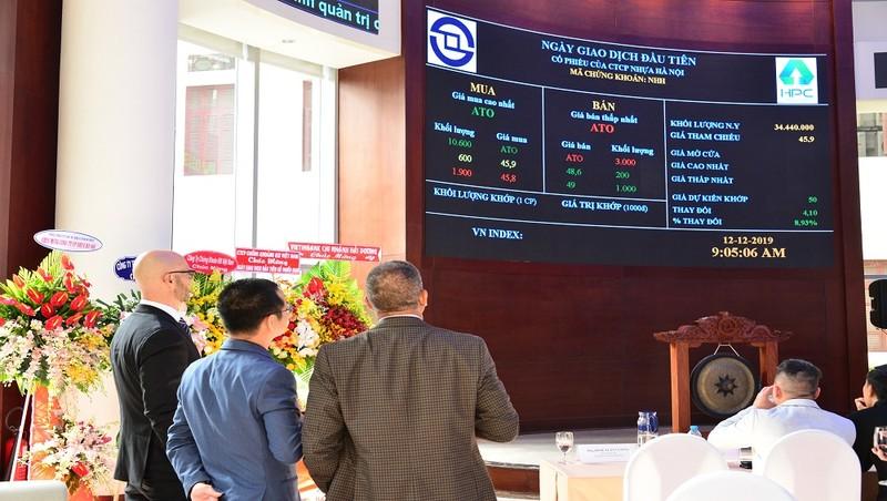 Niêm yết và chính thức giao dịch cổ phiếu Công ty CP Nhựa Hà Nội