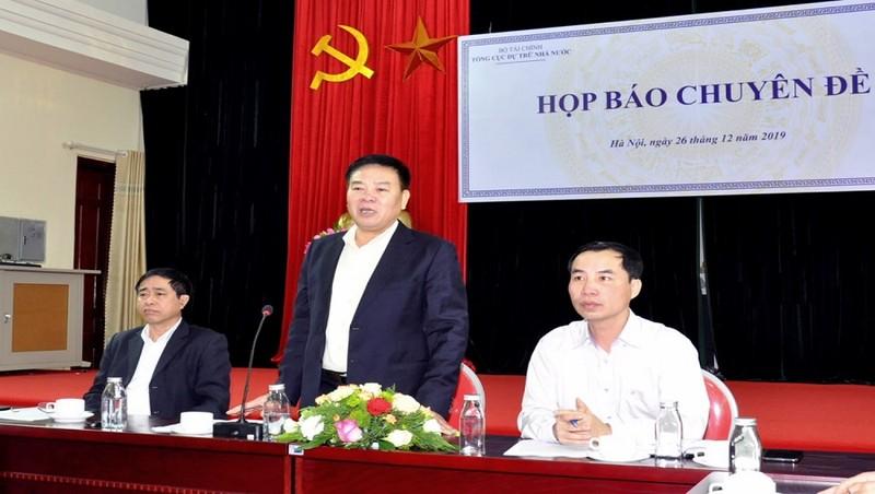 Ông Lê Văn Thời, Phó Tổng cục trưởng Tổng cục DTNN tại buổi họp báo