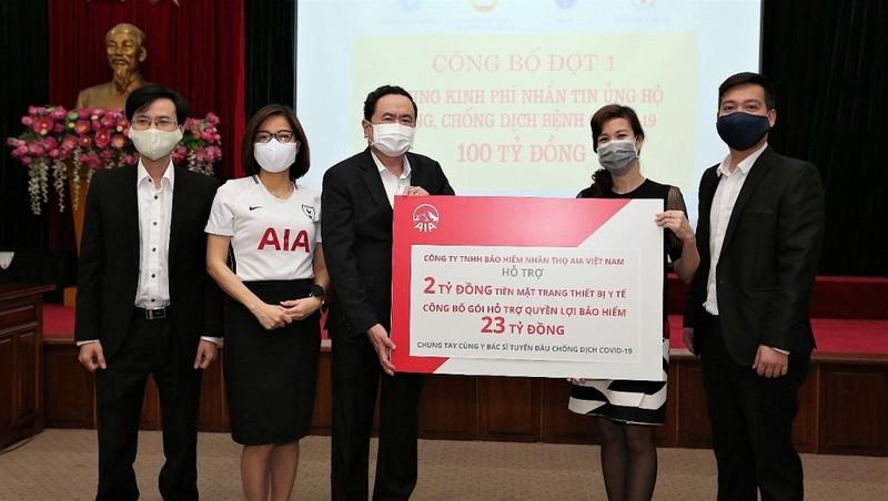 AIA Việt Nam tặng gói hỗ trợ tài chính trị giá 25 tỷ đồng cho đội ngũ y bác sỹ và nhân viên y tế tuyến đầu chống dịch Covid-19