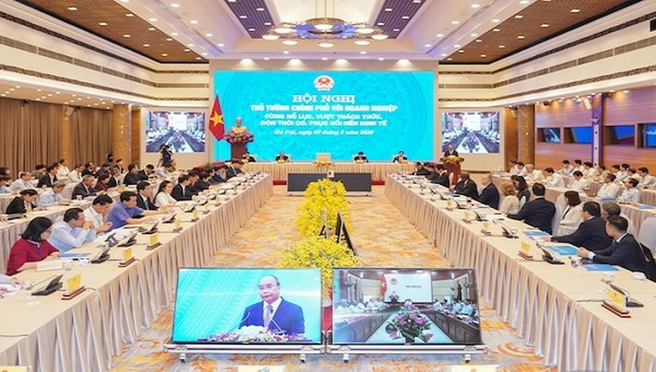 Hội nghị Thủ tướng Chính phủ với doanh nghiệp: Tháo gỡ khó khăn cho doanh nghiệp để tăng tốc phát triển