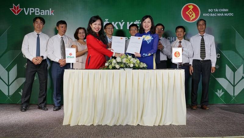 VPBank và Kho bạc Nhà nước ký thỏa thuận phối hợp thu ngân sách và thanh toán song phương điện tử