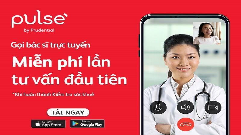 Gọi bác sỹ trực tuyến miễn phí để kiểm tra sức khỏe mùa dịch trên ứng dụng Pulse by Prudential