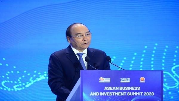 Thủ tướng Nguyễn Xuân Phúc phát biểu tại ASEAN BIS 2020.