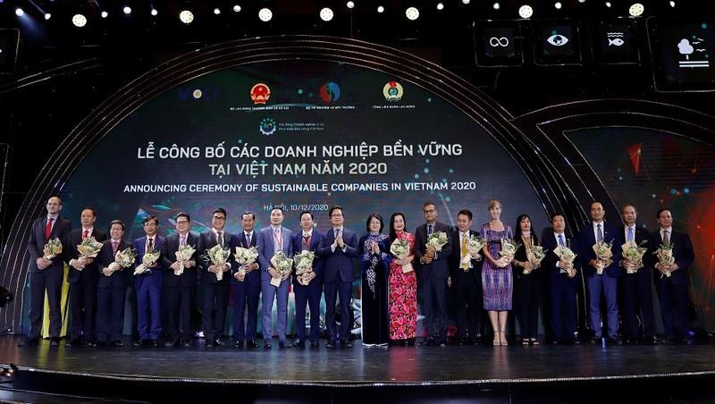 Tôn vinh doanh nghiệp bền vững năm 2020