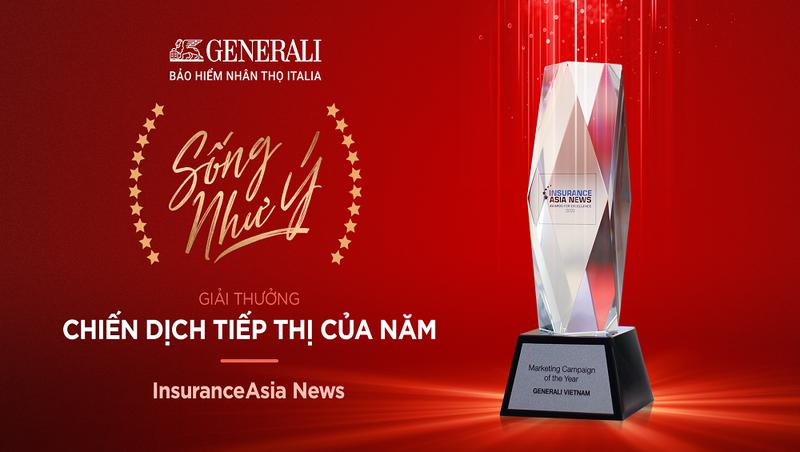 """Với thông điệp tích cực và cách chuyển tải sáng tạo, """"Sống Như Ý"""" của Generali đã đoạt giải """"Chiến dịch Tiếp thị của Năm"""" do InsuranceAsia News trao tặng."""