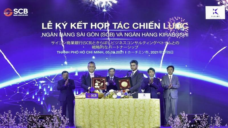 SCB ký hợp tác chiến lược với ngân hàng Kiraboshi