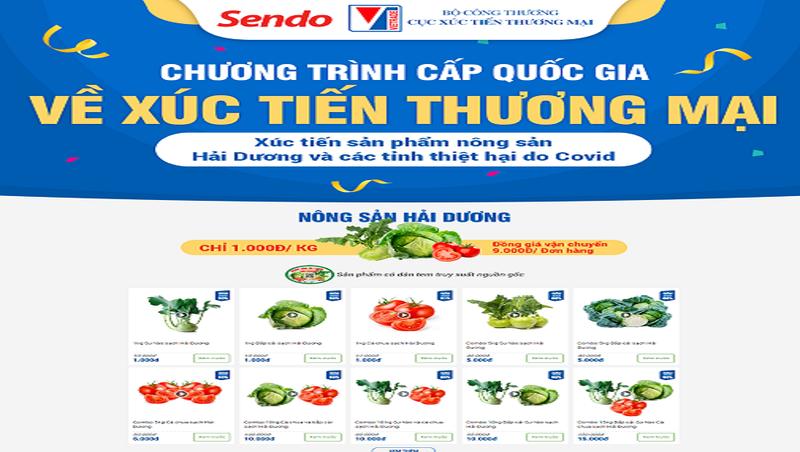 Cục Xúc tiến thương mại và Sendo bán 1.000 đồng/kg nông sản Hải Dương