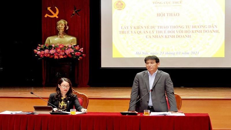Phó Tổng cục trưởng Đặng Ngọc Minh phát biểu chỉ đạo hội nghị.