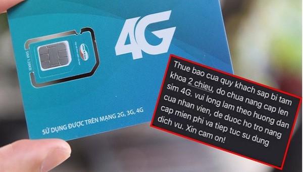 Giả mạo nhà mạng nâng cấp lên sim 4G để đánh cắp thông tin thẻ tín dụng