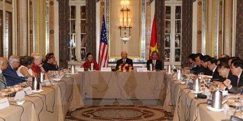 Tổng Bí thư Nguyễn Phú Trọng gặp thân mật bạn bè cánh tả Hoa Kỳ
