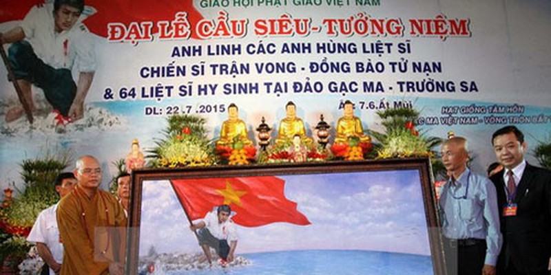 Đại lễ cầu siêu anh linh anh hùng liệt sỹ hy sinh vì biển đảo