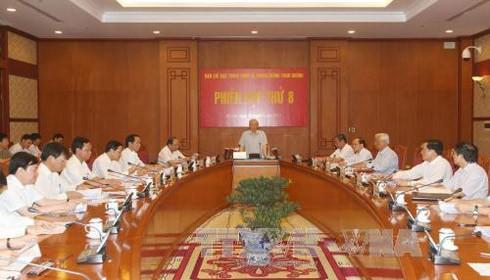Ban Chỉ đạo Trung ương về phòng, chống tham nhũng tiến hành Phiên họp thứ 8. Ảnh TTXVN