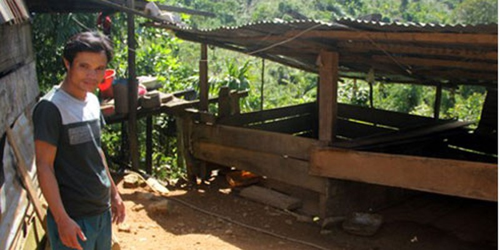 Phó thôn Trần Minh Vũ cho rằng con lợn nhà anh Lanh không chịu về nhà mà lại đến hàng xóm lót ổ là điều cực kỳ xấu, trước sau gì cũng phải nhận điều rủi ro.