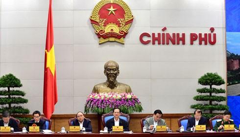 Thủ tướng Nguyễn Tấn Dũng chủ trì phiên họp Chính phủ thường kỳ tháng 11/2015. Ảnh: VGP/Nhật Bắc