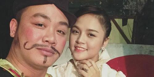 Thu Quỳnh chụp chung với diễn viên Quang Ánh