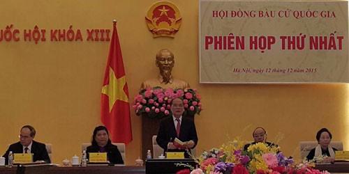 Hội đồng bầu cử Quốc gia họp phiên đầu tiên