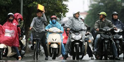Không khí lạnh tăng cường liên tục, ra đường đề phòng mưa, rét đậm