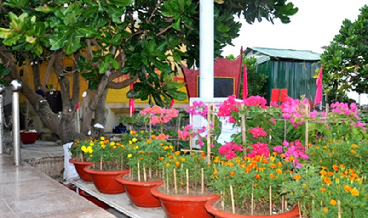 Một góc công viên Đại tướng Võ Nguyên Giáp tại Trường Sa.