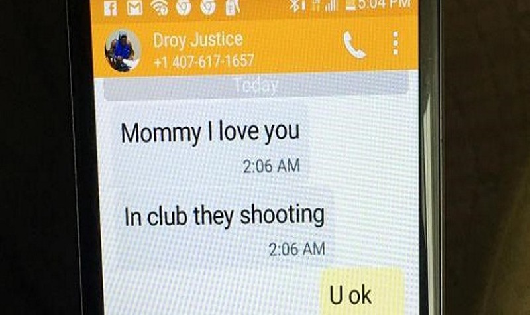 Tin nhắn xé lòng gửi mẹ từ hộp đêm đồng tính đẫm máu