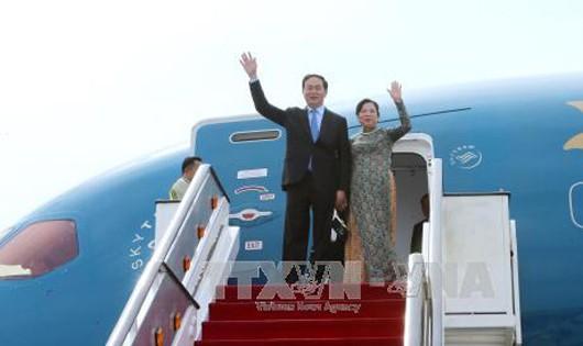 Chủ tịch nước Trần Đại Quang bắt đầu chuyến thăm nước ngoài đầu tiên