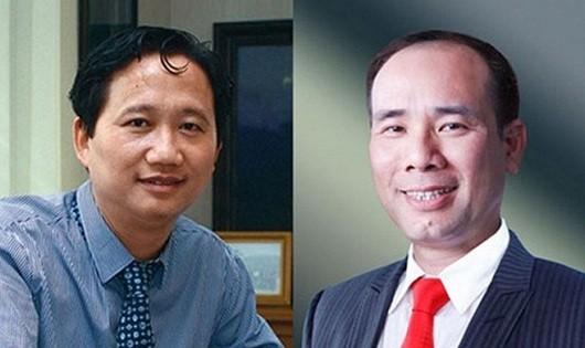 Ông Trịnh Xuân Thanh (trái) - Chủ tịch HĐQT và ông Vũ Đức Thuận - Tổng giám đốc PVC, thời tổng công ty này thua lỗ hơn 3.200 tỷ đồng.