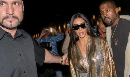Vệ sĩ Duvier (trái) bảo vệ vợ chồng Kim Kardashian tại một sự kiện. Ảnh: Au News