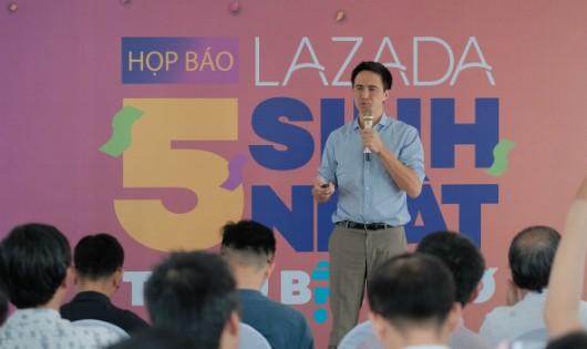Ông Alexandre Dardy, CEO Lazada Việt Nam phát biểu.