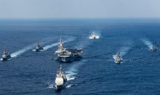 Siêu chiến hạm Mỹ, Nga, Nhật 'rầm rập' kéo về bán đảo Triều Tiên