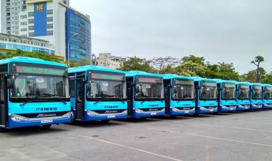 Tuyến buýt 35A Trần Khánh Dư-Nam Thăng Long với xe mới, tiêu chuẩn chất lượng cao. (Ảnh: Transerco cung cấp)