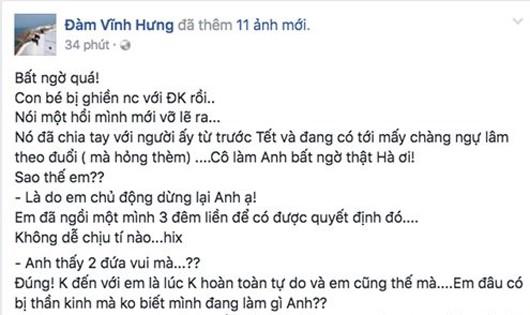 Hà Hồ bất ngờ chia sẻ chuyện tình yêu với Mr Đàm