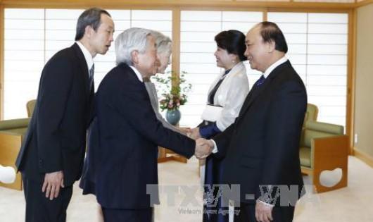 Thủ tướng và Phu nhân hội kiến Nhà vua và Hoàng hậu Nhật tại Tokyo