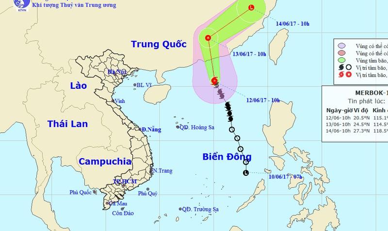 Bão hướng về Trung Quốc, miền Bắc mưa to