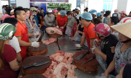 Thịt heo được 'giải cứu' với giá 35 ngàn đồng ở Cần Thơ