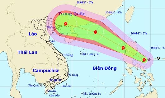 Lại xuất hiện bão mạnh gần biển Đông