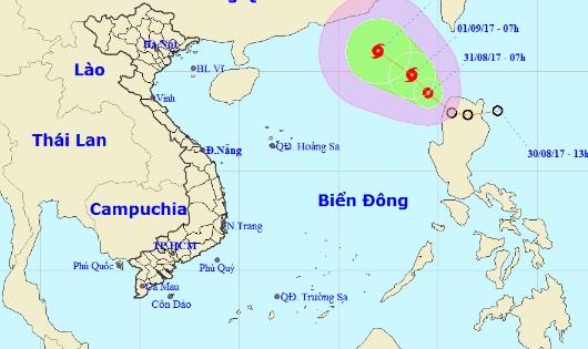 Nguy cơ bão lớn, phía Bắc Biển Đông động mạnh