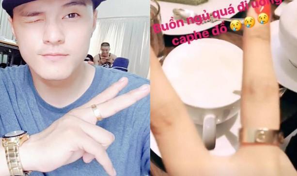 Hình ảnh chiếc nhẫn đôi xuất hiện trên cả hai trang instagram cá nhân của Lâm Vinh Hải và Linh Chi.