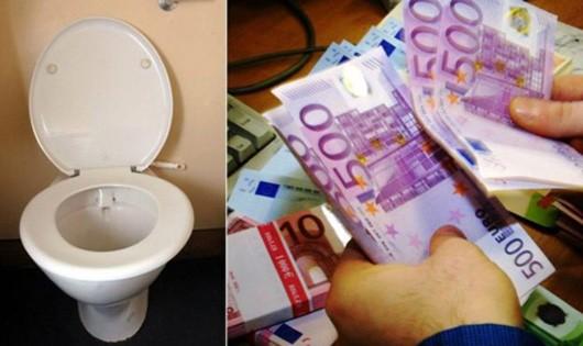 Hàng chục nghìn euro xả trôi xuống bồn cầu ở Thụy Sĩ