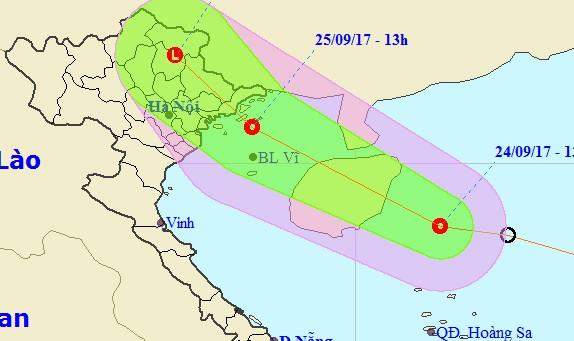 Áp thấp nhiệt đới sắp hoành hành vùng biển Quảng Ninh - Hải Phòng, nhiều tỉnh mưa lớn
