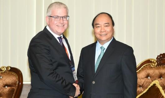 Thủ tướng Nguyễn Xuân Phúc tiếp Đại sứ Australia Craig Chittick.