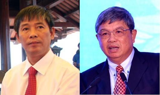 Ông Trần Bá Huấn (bên trái) và ông Nguyễn Phước Thanh.