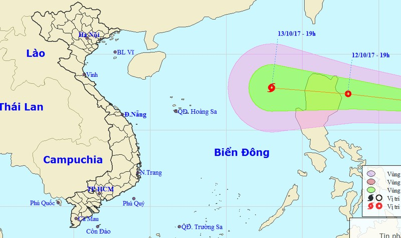 Lại thêm áp thấp nhiệt đới mạnh hướng vào Biển Đông