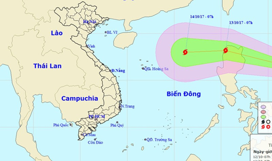 Áp thấp nhiệt đới mạnh đang hướng tâm vào miền Trung