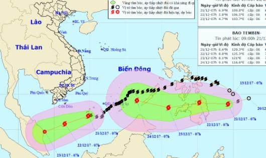 Thêm một cơn bão mạnh chuẩn bị đổ bộ Biển Đông