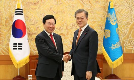 Phó Thủ tướng Phạm Bình Minh hội kiến Tổng thống, Thủ tướng Hàn Quốc