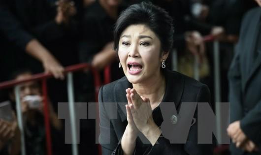 Thủ tướng Thái Lan Yingluck Shinawatra tại Tòa án tối cao ở Bangkok ngày 21/7/2017. (Nguồn: AFP/TTXVN)