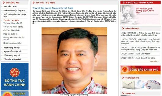 Truy nã nguyên Trưởng phòng kinh doanh DongA Bank Nguyễn Huỳnh Đăng