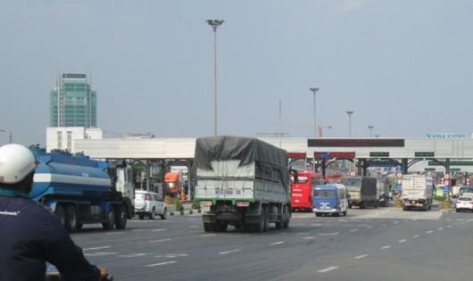 Trạm thu phí BOT cầu Đồng Nai.